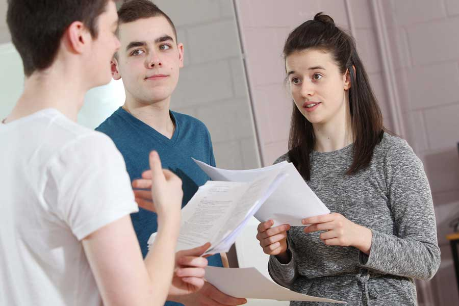 Acting students