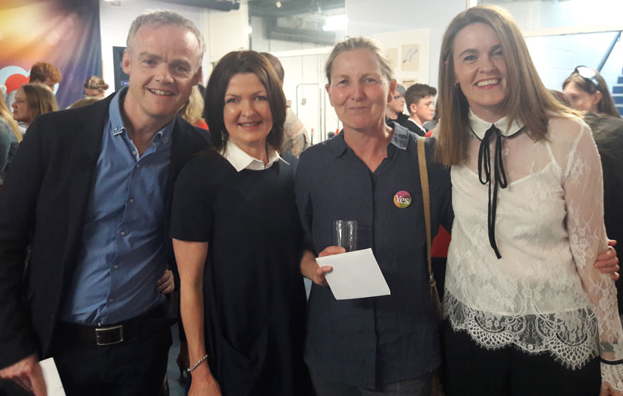 Barry Walsh (Cork Art Supplies), Siobhan Steele, Mairead O'Neill, Roselyn McNally