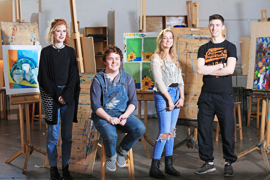CSN Art, Craft & Design students in the studio