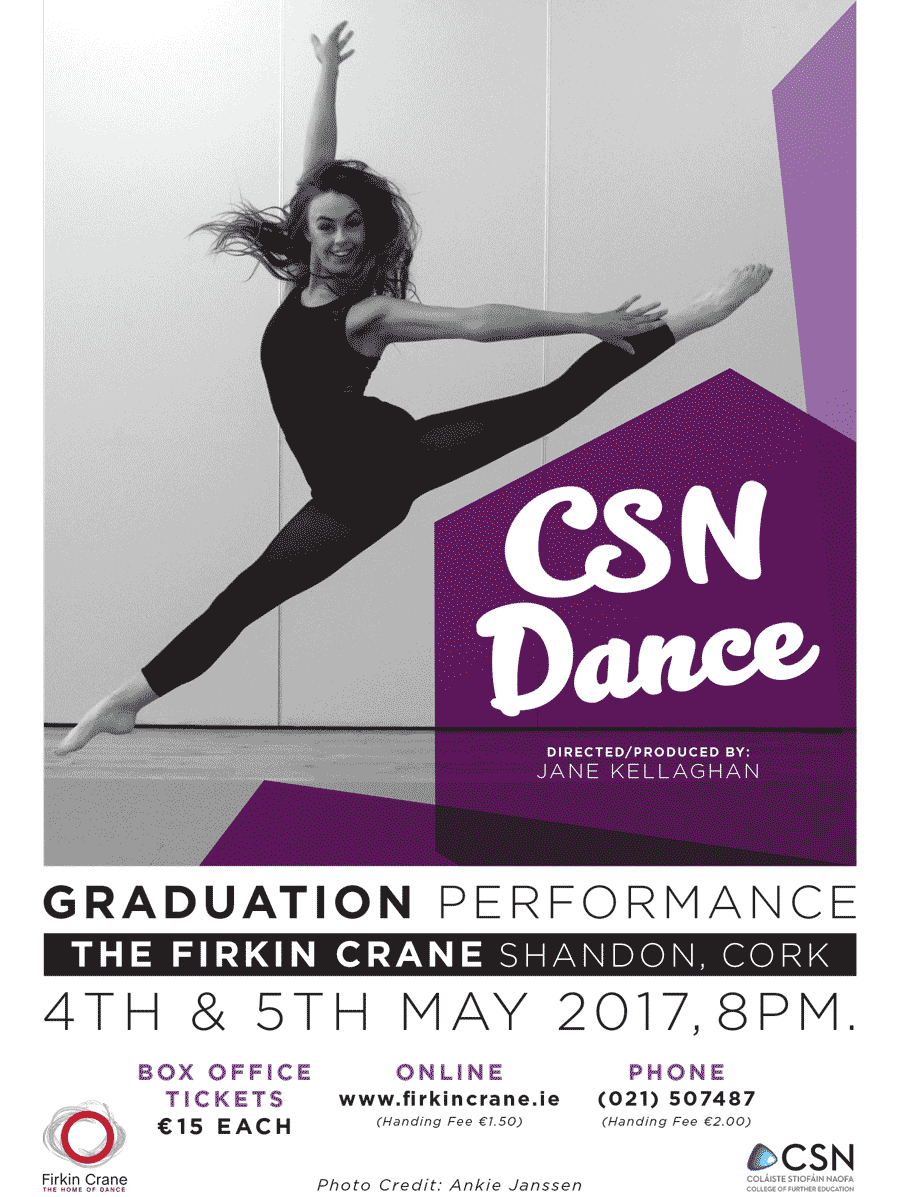 Poster for CSN Dance Graduation Show 2017
