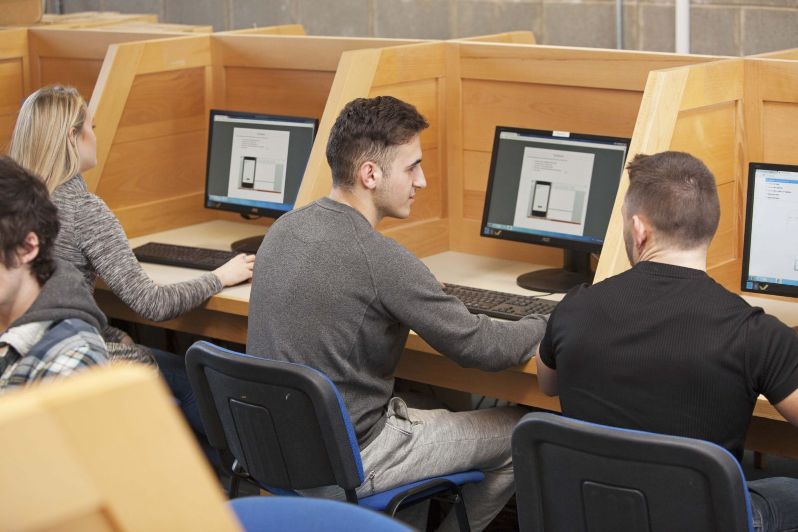 IT students at CSN College of Further Education, Cork