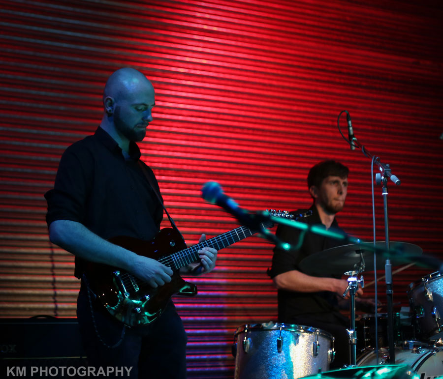Stephen Springall and Brenden Fennessy on drums