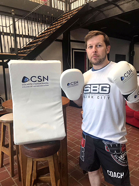 Martial Arts Classes at CSN from Sept. 2018 for specific sports courses within the Sports Dept. Classes will be run in conjunction with Liam Og Griffin of SBG Cork.