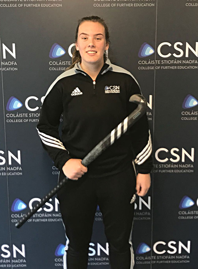 Emma Buckley CSN Sports Nutrition student. Best wishes playing for Ireland's Senior Hockey team in Spain this week