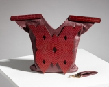 Lorraine Dwyer's Bag in Leather and Lacquered Cherry
