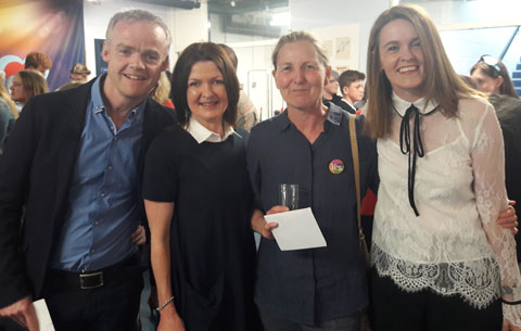Barry Walsh (Cork Art Supplies), Siobhan Steele, Mairead O'Neill, Roselyn McNally.