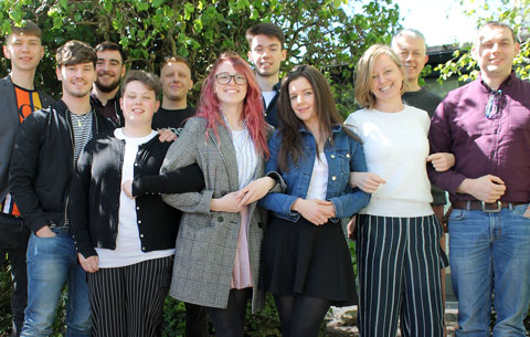 Digital Media graduates progress onto great things. Well done to all!