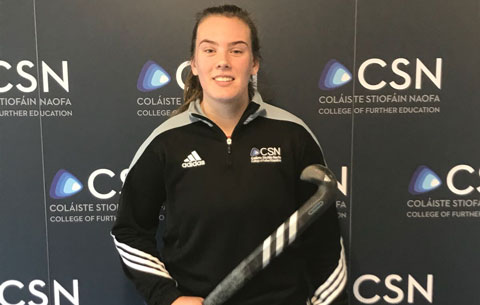 Best wishes  CSN Sports Nutrition student Emma Buckley, who is playing for Ireland's Senior Hockey team in Spain this week.