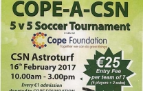 5-A-Side Soccer Tournament at CSN Astroturf for COPE. SIGN UP *FUN DAY* *SUPPORT COPE* @Cope Foundation, CSN College , Cork