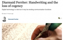 Exhibition by the students of the Cultural and Heritage Studies Course on The Disappearing Craft of Handwriting was taken up by none other than Prof. Diarmaid Ferriter. CSN College of Further Education