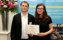 Congratulations to award-winning CSN Digital Media graduate Jaime Dare  Jaime received the Wired Sussex prize for Best Project for BSc. Digital Media, BSc Digital Media Development, and BSc. Digital Games Production by a final year student.