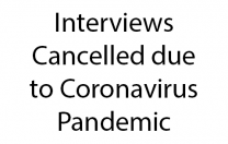 Interviews Cancelled due to Coronavirus Pandemic