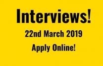 Interviews: 22nd March 2019 Apply Online!