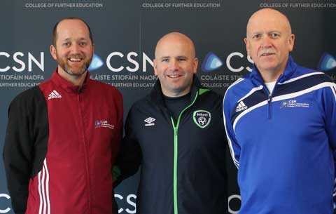 FAI Coach Education Manager Niall O'Regan presented Coaching Education Pathways to students of Coaching & Physical Education and Soccer Coaching & Sports Performance.   Niall was a former CSN Sports student.  His insights were invaluable and students were